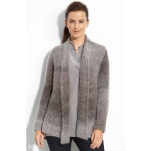 [Eileen Fisher] Gray Ombre Open Front Cardigan